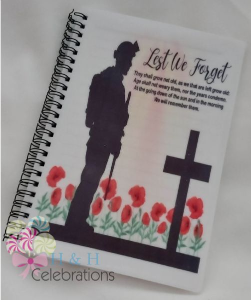 Lest We Forget A5 Lined Notepad